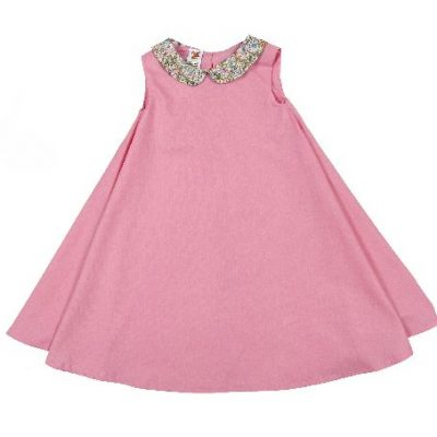 irish handmade pink dress