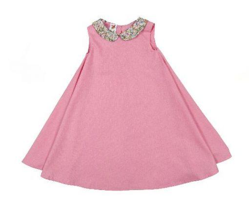 irish handmade pink dress