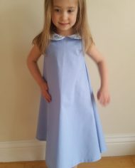 blue liberty dress-girl wearing